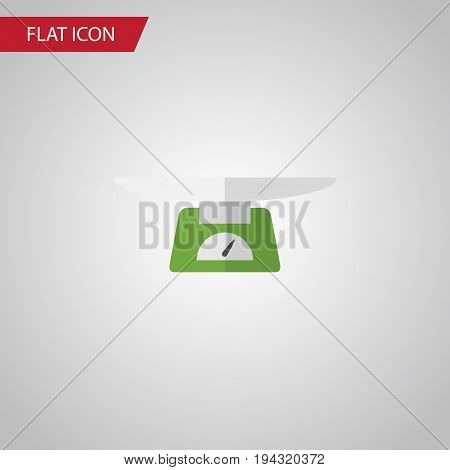 Isolated Weighing Flat Icon. Children Scales Vector Element Can Be Used For Weighing, Children, Scales Design Concept.