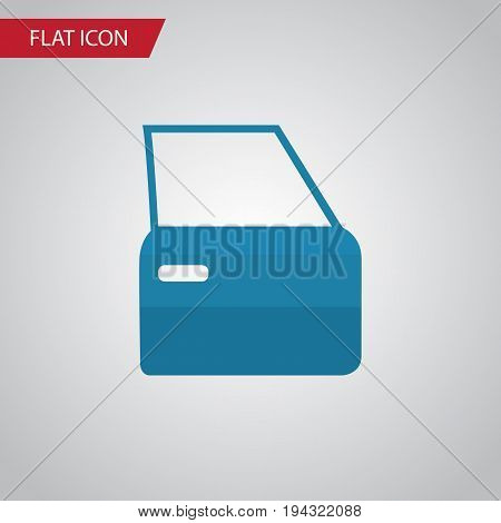 Isolated Door Flat Icon. Automobile Part Vector Element Can Be Used For Automobile, Part, Door Design Concept.