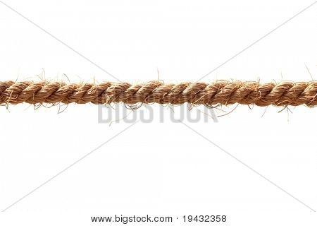 Hemp rope isolated on white