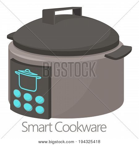 Smart cookware icon. Cartoon illustration of smart cookware vector icon for web isolated on white background