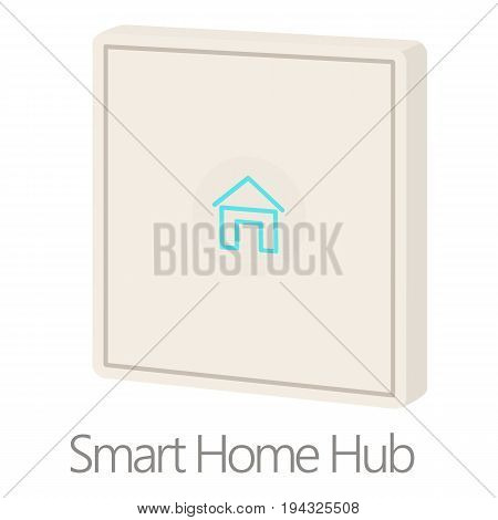 Smart home hub icon. Cartoon illustration of smart home hub vector icon for web isolated on white background