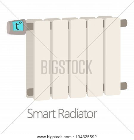 Smart radiator icon. Cartoon illustration of smart radiator vector icon for web isolated on white background