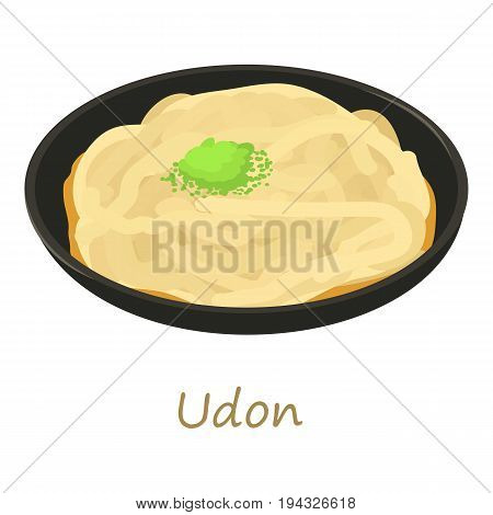 Udon icon. Cartoon illustration of udon vector icon for web isolated on white background