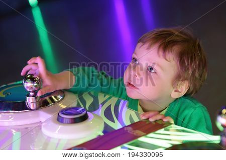 Portrait of a child at amusement park