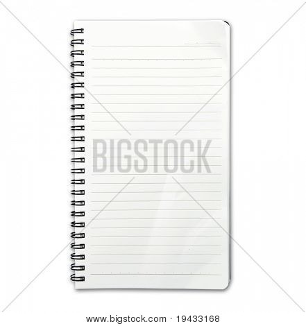 Memo note with real world use fold and wrinkles.