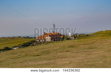Beachy Head Sussex - June 11 2015: Beachie Head pub nestling in the south downs hills.