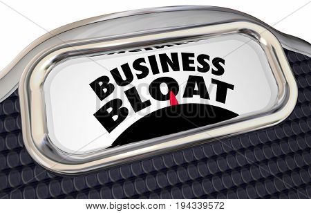 Business Bloat Overstaffed Too Many Projects Scale 3d Illustration