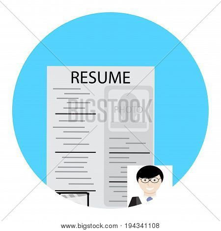 Search for employee human resource. Hr and human resource management vector human resources icon illustration recruitment and hiring
