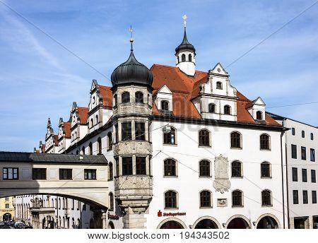 Munich, Germany - July 2, 2017: Historical building Munich, Germany, Bavaria