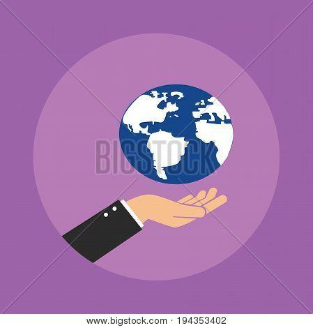 world in hand concept illustration vector graphic illustration