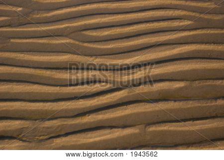 Sand Ripple On The Beach 04