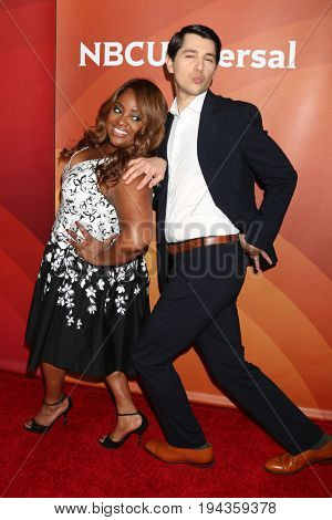 LOS ANGELES - MAR 20:  Sherri Shepherd, Nick D'Agosto at the NBCUniversal Summer Press Day at Beverly Hilton Hotel on March 20, 2017 in Beverly Hills, CA