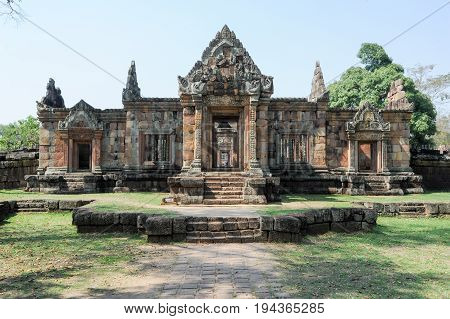 Prasat Muang Tam Temple In Buriram On Thailand