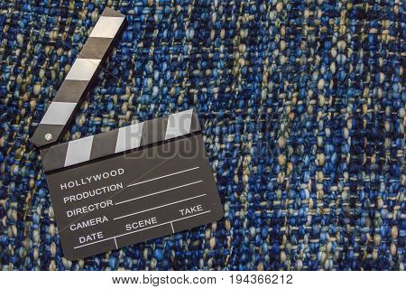 cinema photography slate clapperboard media production background space for editor use