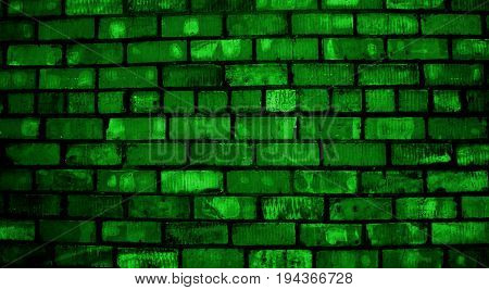 Green brick. Green brick wall. Green grunge. Brickwork. Brick, brick wall texture, brick wall background. Brick wall. Green. Grunge, grunge background. Green brickwork.