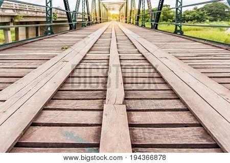 Railroad bridge over the Iron Horse Trail head in Pai Chiang Mai