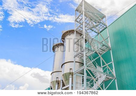 stainless steel tanks bulk silos industrial factory storage containers for food production Industrial