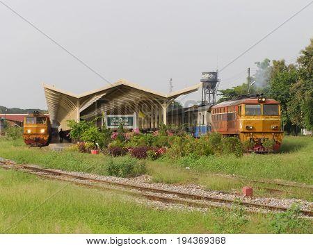Alsthom Locomotive No4213 For Train No52.