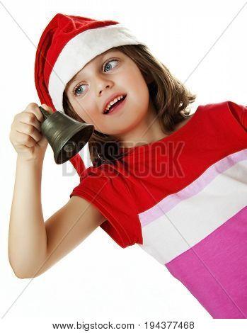 a happy little girl - a christmas portrait