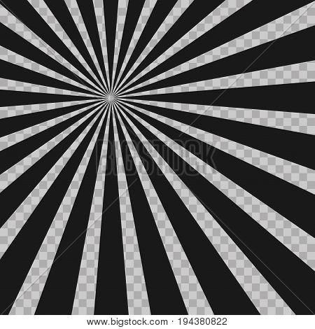 Abstract Comic Book Flash Explosion Radial Lines Background. Illusion Rays. Retro Sunburst. Grunge D