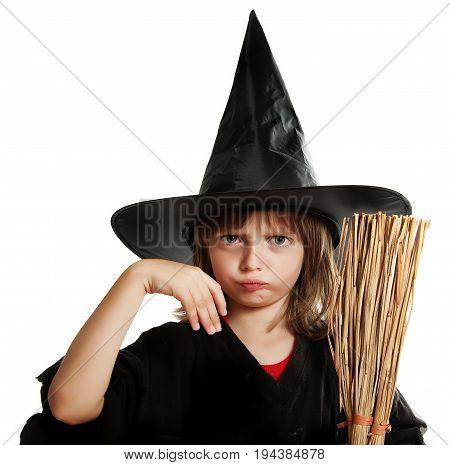 a little hallowen witch - close up