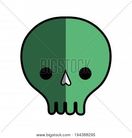 skull danger symbol to caution alert vector illustration