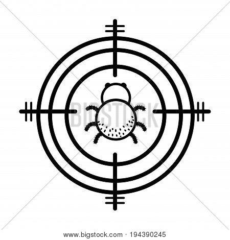 line spider insect animal symbol and dangerous symbol icon vector illustration