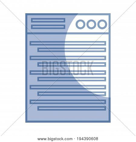 silhouette technology window element and website document vector illustration