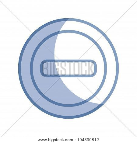 silhouette minus network symbol to web connection vector illustration