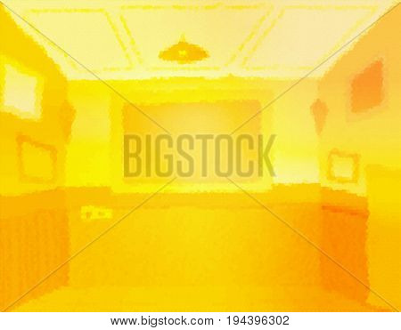 Lit Room blur with tv screen brightly lit abstract background illustration