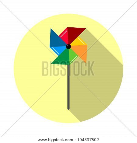 Pinwheel icon in a flat style isolated