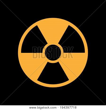 radiation icon in flat style isolated symbol