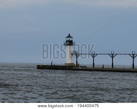 Lighthouse at North Pier in St. Joseph, Michigan