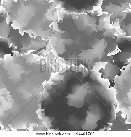 Black And White Seamless Watercolor Texture Background. Awesome Abstract Black And White Seamless Wa
