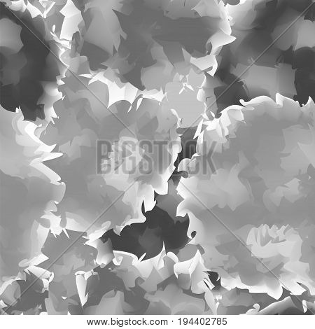 Black And White Seamless Watercolor Texture Background. Beautiful Abstract Black And White Seamless
