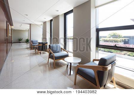 design and decoration in modern corridor