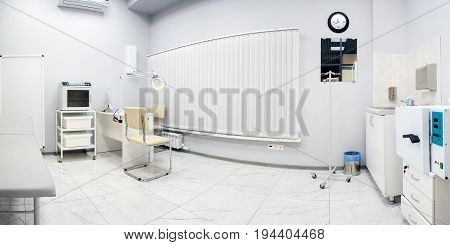 Modern white medical room for receiving visitors