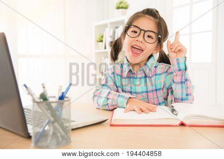 Sweet Children In Black Eyeglasses Educated