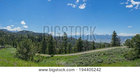 Mountainside Road Wyoming