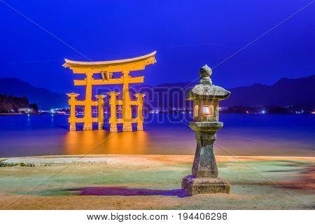 Miyajima, Hiroshima, Japan at the Floating Gate.