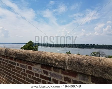 Fort Washington looking towards the Potomac river and sky