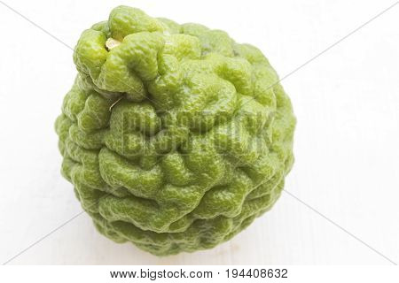 background nature vegetable lime on table white