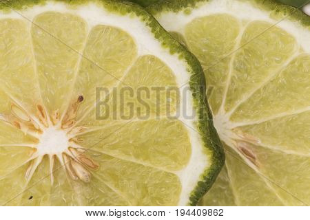 background nature vegetable lime slice macro photo