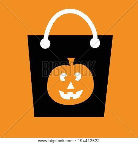 Pumpkin Happy Halloween Candy Goodie Treat Bag