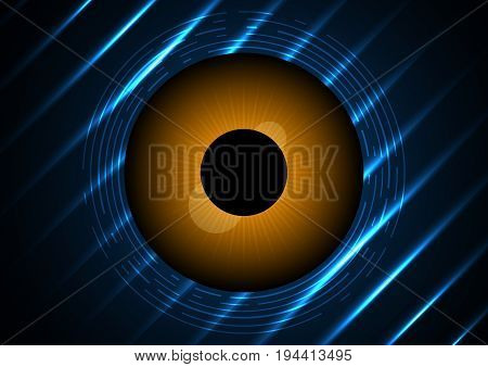 Technology Digital Cyber Security Eye Circle Background