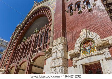 Detail Of The Mercado Colon Market Hall In Valencia