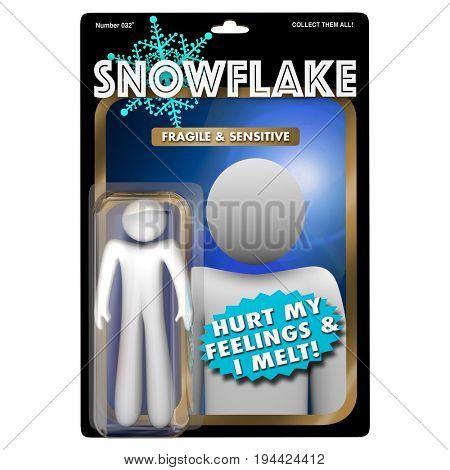 Snowflake Fragile PC Sensitive Millennial Action Figure 3d Illustration