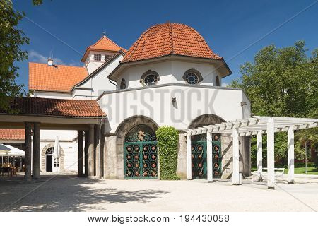 Art Nouveau at the spa of Bad Nauheim Hesse Germany