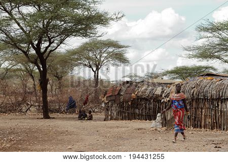 A Traditional Samburu Tribe women in Kenya