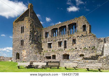 Medieval ruin of Burg Muenzenberg Hesse Germany